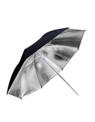 Large Black Silver Reflective Umbrella for Studio Lighting available at CameraPro Colombo Sri Lanka