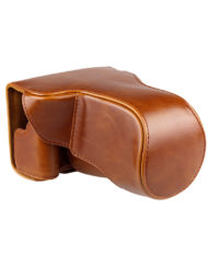 Vintage Camera Case for Canon EOS M3 with Strap (Brown) available at CameraPro Colombo Sri Lanka